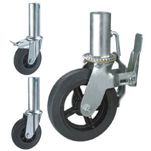 4 Heavy Duty Adjustable Scaffold Castors